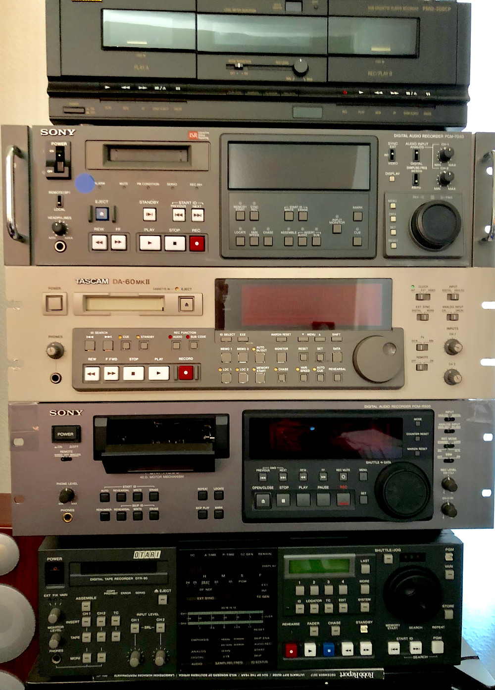 Some of the professional DAT recorders from Sony, TASCAM and Atari