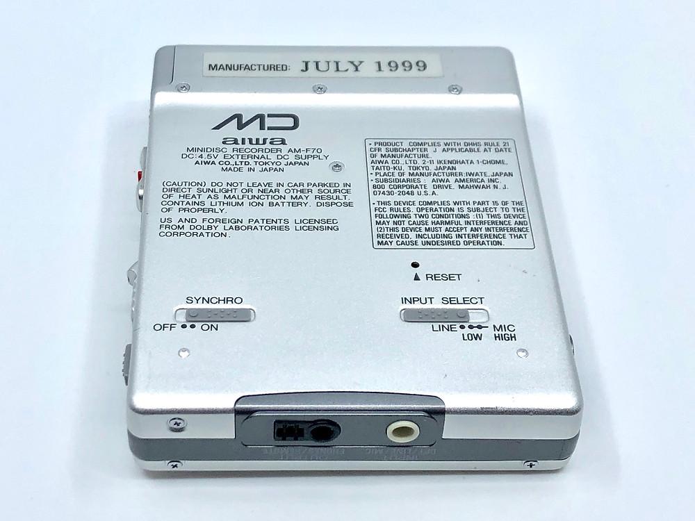 Aiwa AM-F70 MiniDisc Recorder