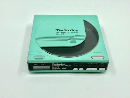 Technics SL-XP3 Blue Portable CD Player