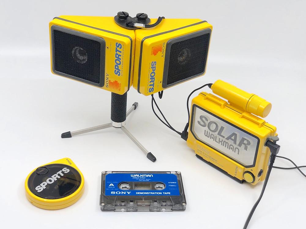 Sony SOLAR Sports Walkman WM-F107 Portable Cassette Player