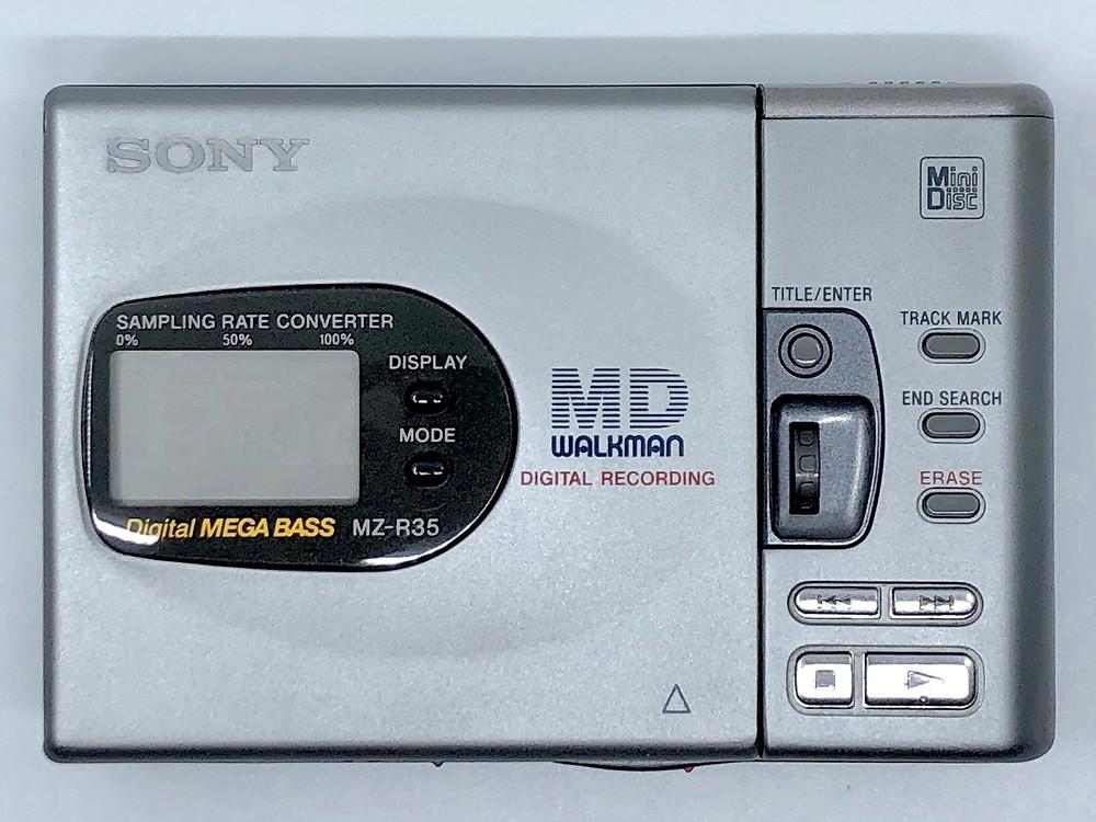 Sony Walkman MZ-R35 MiniDisc Recorder Silver