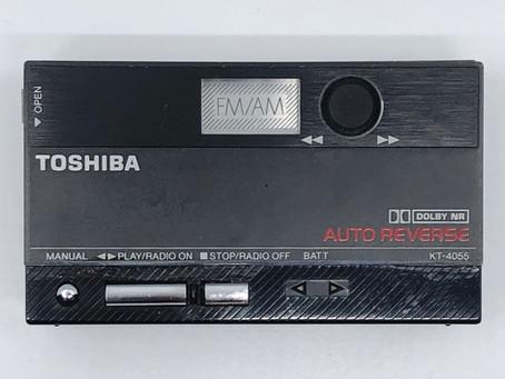 Toshiba KT-4055 Portable Cassette Player Black