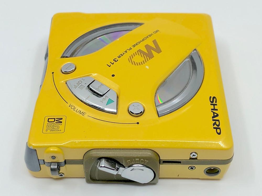 Sharp MD-SS311Y Yellow MiniDisc Player