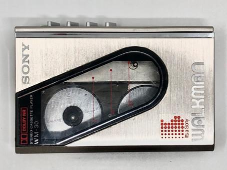 Sony Walkman WM-30 Silver Portable Cassette Player