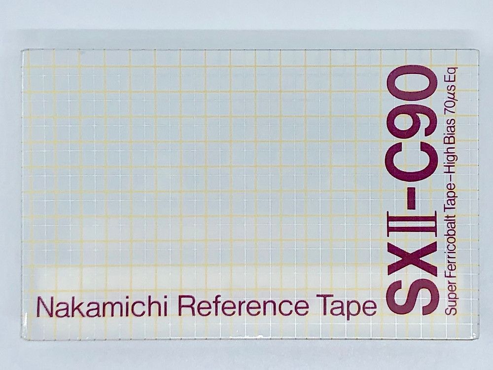 Nakamichi EXII, SXII, ZX Blank Cassette Reference Tapes