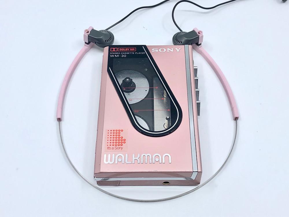 Sony Walkman WM-30 Pink Portable Cassette Player