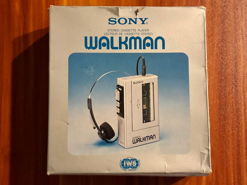 Sony Walkman WM-4 Blue Portable Cassette Player
