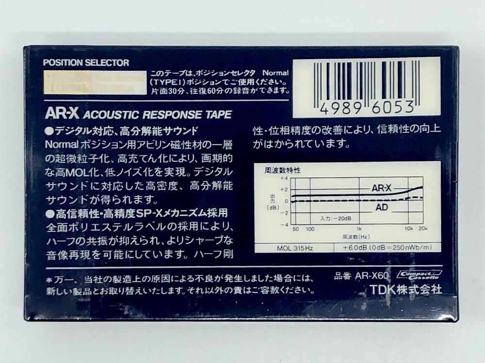 TDK AR-X Type II CrO2 Blank Cassette Tapes