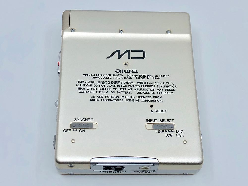 Aiwa AM-F70 Champaign MiniDisc Player