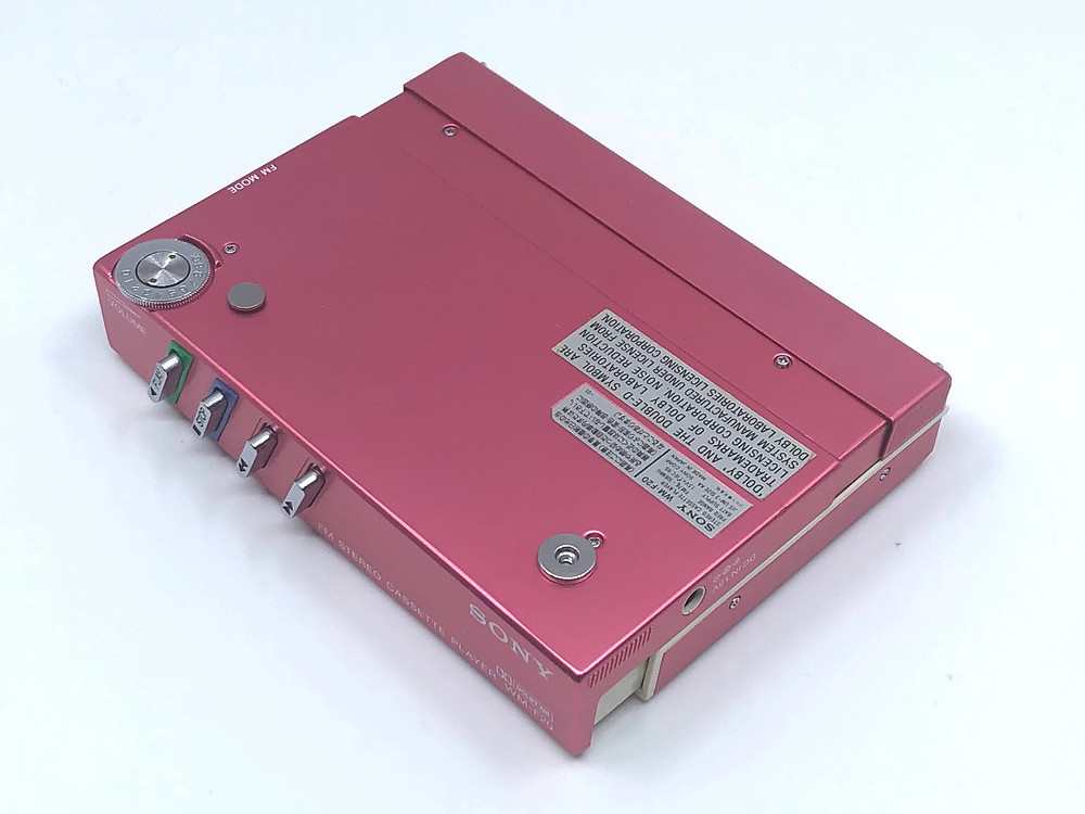 Sony Walkman WM-F20 Pink Portable Cassette Player with TV FM Radio
