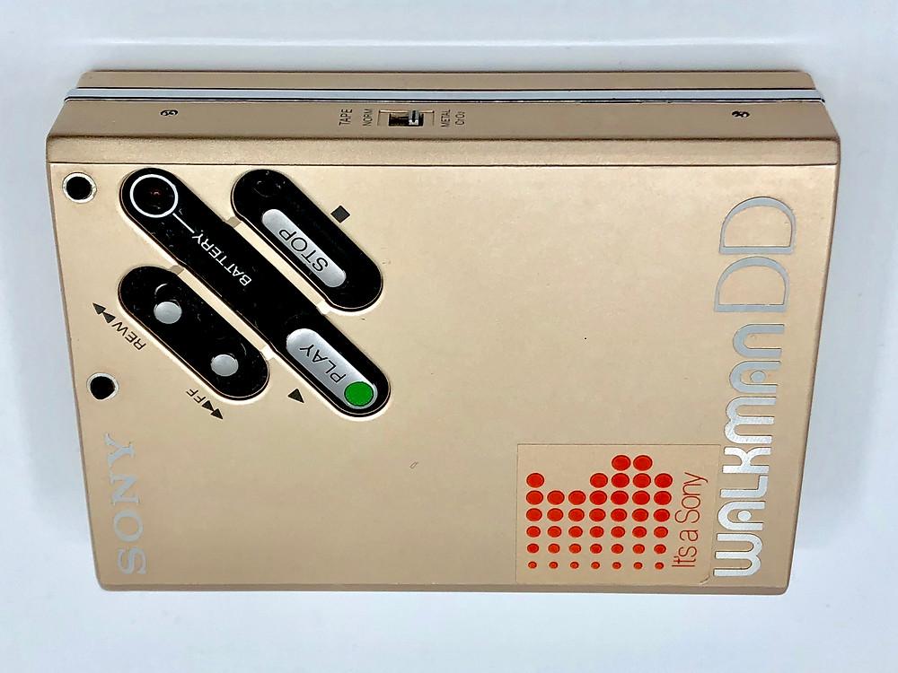 Sony Walkman WM-DD Gold Portable Cassette Player