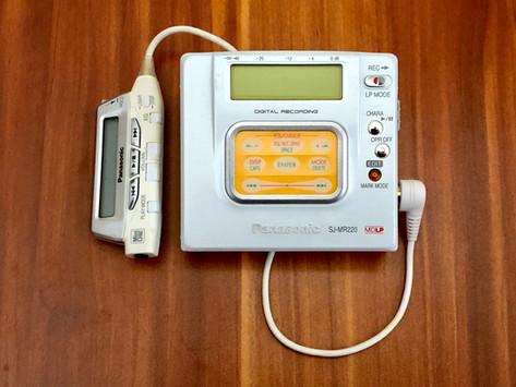 Panasonic SJ-MR220 Pearl White MD Recorder