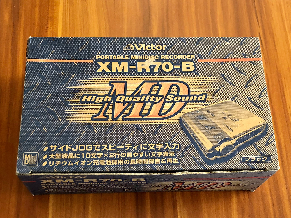 Victor XM-R70 Black MD Recorder