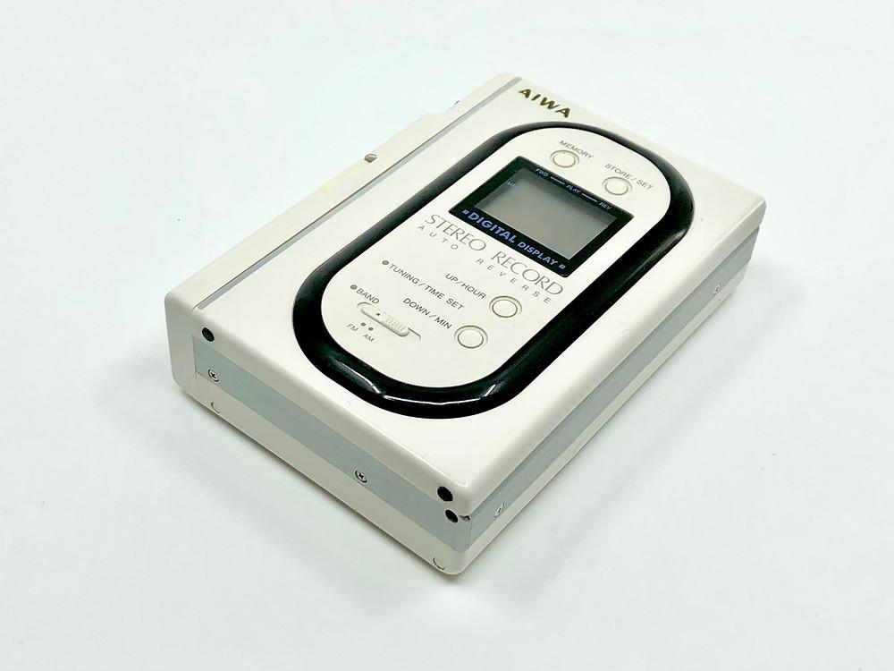 Aiwa HS-J150 Portable Cassette Recorder White