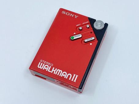Sony Walkman II WM-2 Red Portable Cassette Player