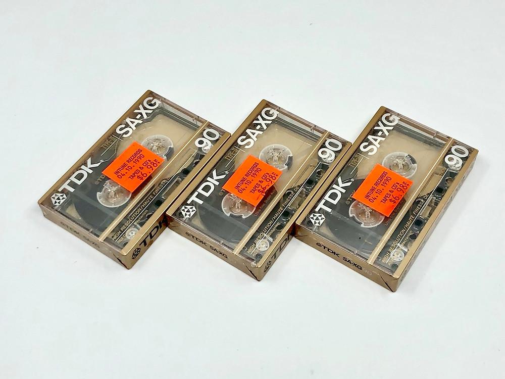 TDK SA-XG Type II CrO2 Cassette Tapes