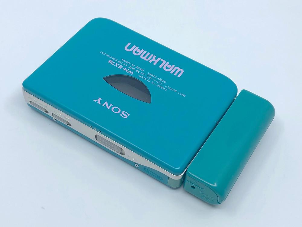 Sony Walkman WM-EX70 Blue Cassette Player