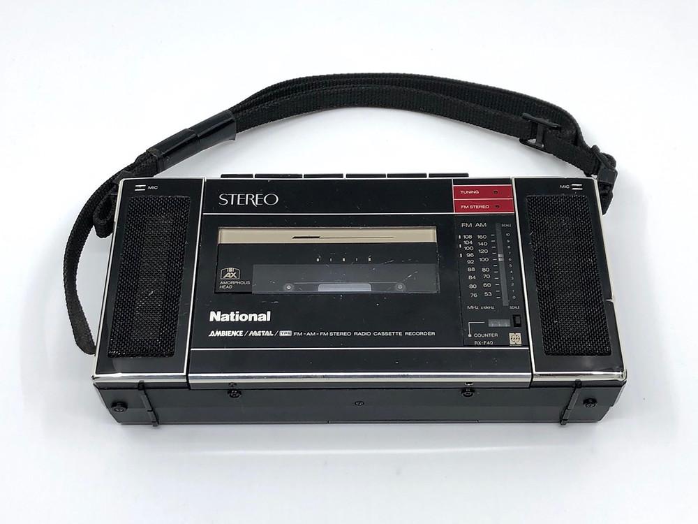 National RX-F40 Mini Boombox Cassette Radio
