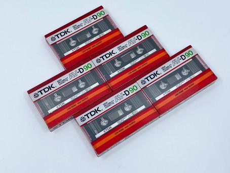TDK D90 and AVD90 Cassette Tapes