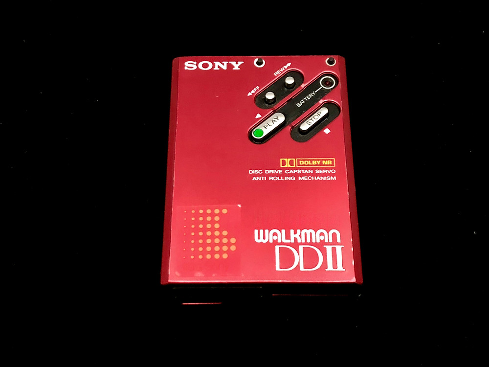 Sony Walkman DDII Red Portable Cassette Player