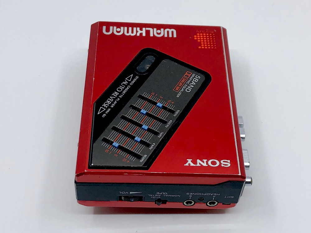 Sony Walkman WM-60 Red Portable Cassette Player with Equalizer