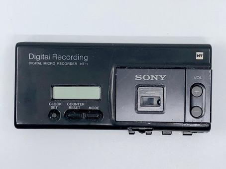 Sony Scoopman NT-1 Portable Digital Cassette Recorder + Sony Portable Speaker