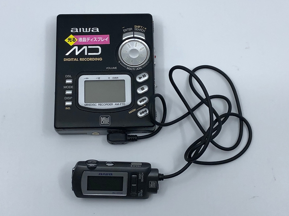 Aiwa AM-F70 Black MiniDisc Recorder