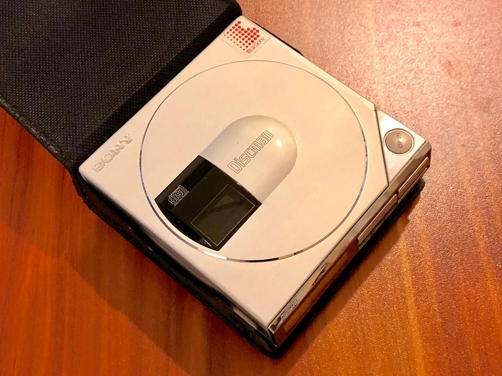 Sony Discman D50MKII White Portable CD Player