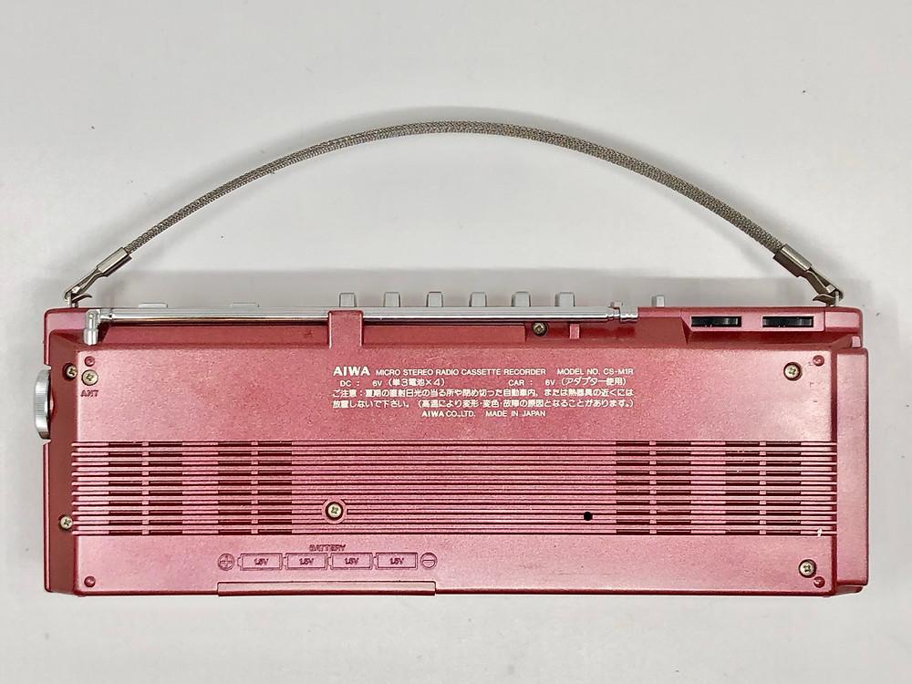 Aiwa CS-M1 Micro-Cassette Boombox Red