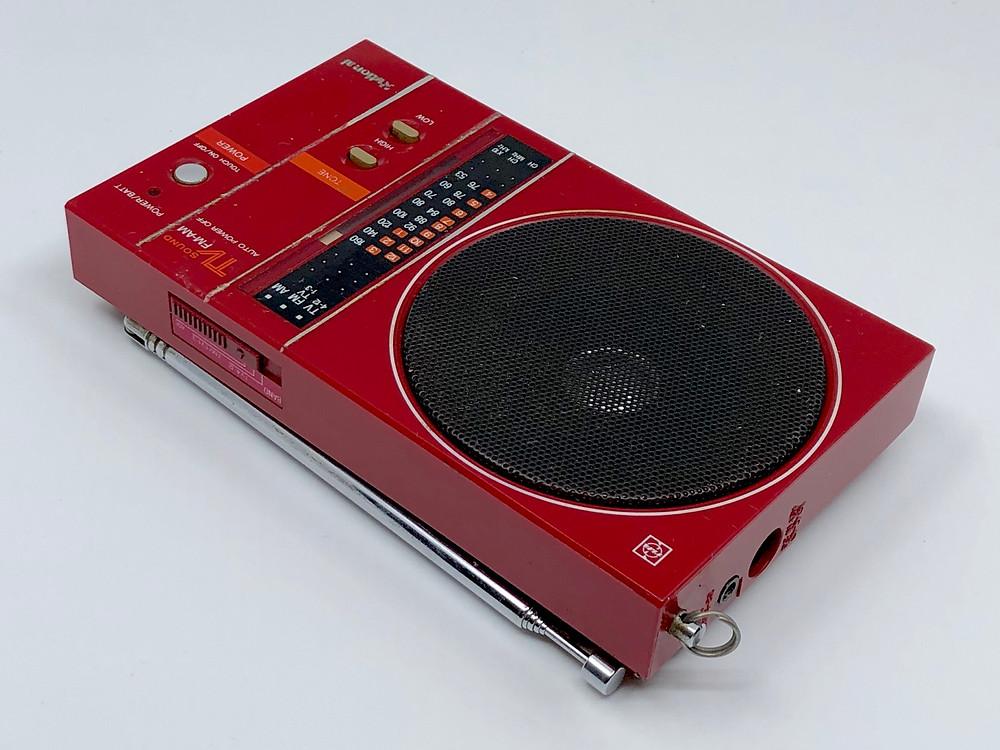 National RF-U60 Radio Red TV FM AM Radio