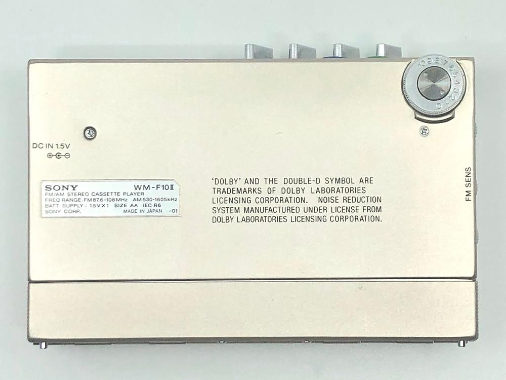 Sony Walkman WM-F10II Silver Portable Cassette Player with Stereo Radio
