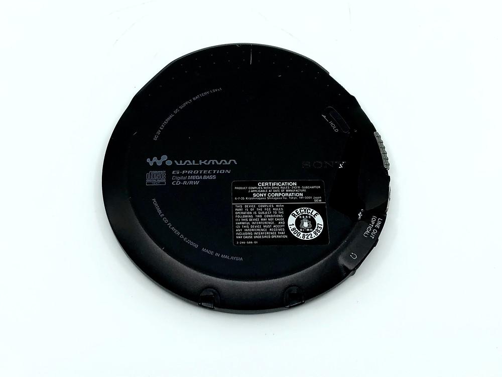 Sony CD Walkman D-EJ2000 Portable CD Player