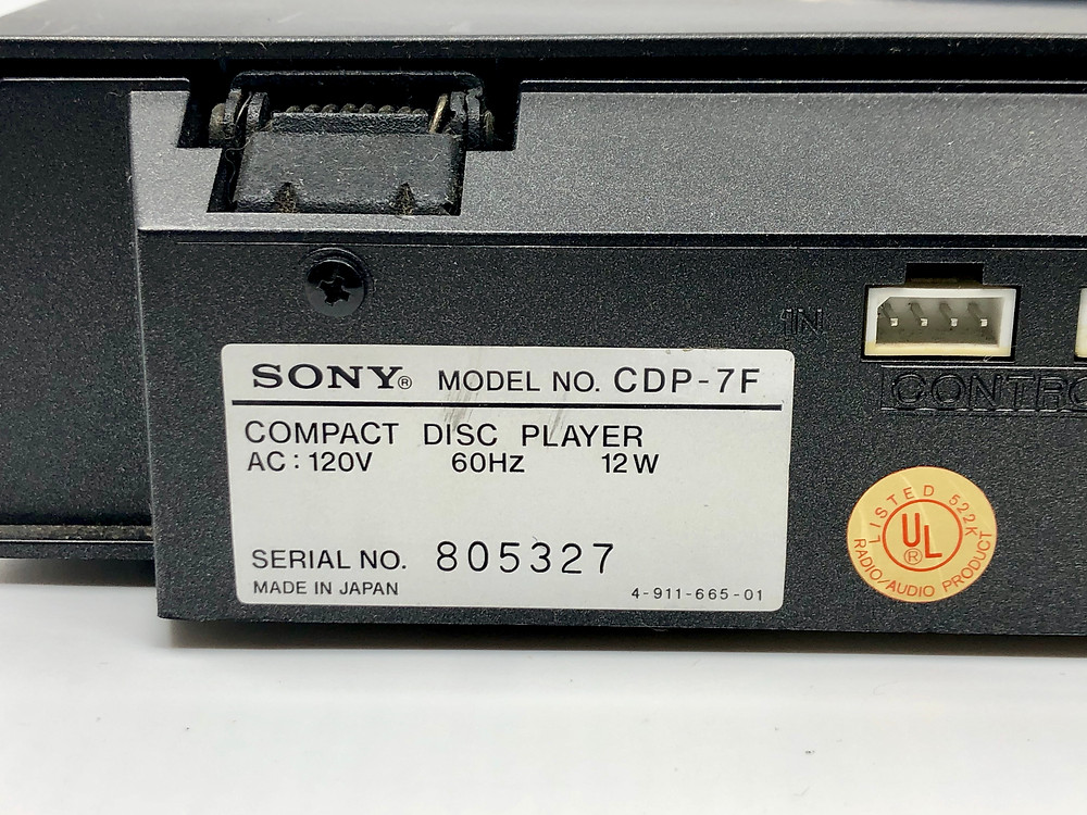 Sony CDP-7F CD Player