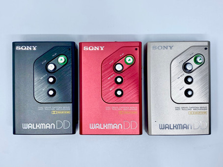 Sony Walkman WM-DD10 Complete Collection. Black, Red and Silver