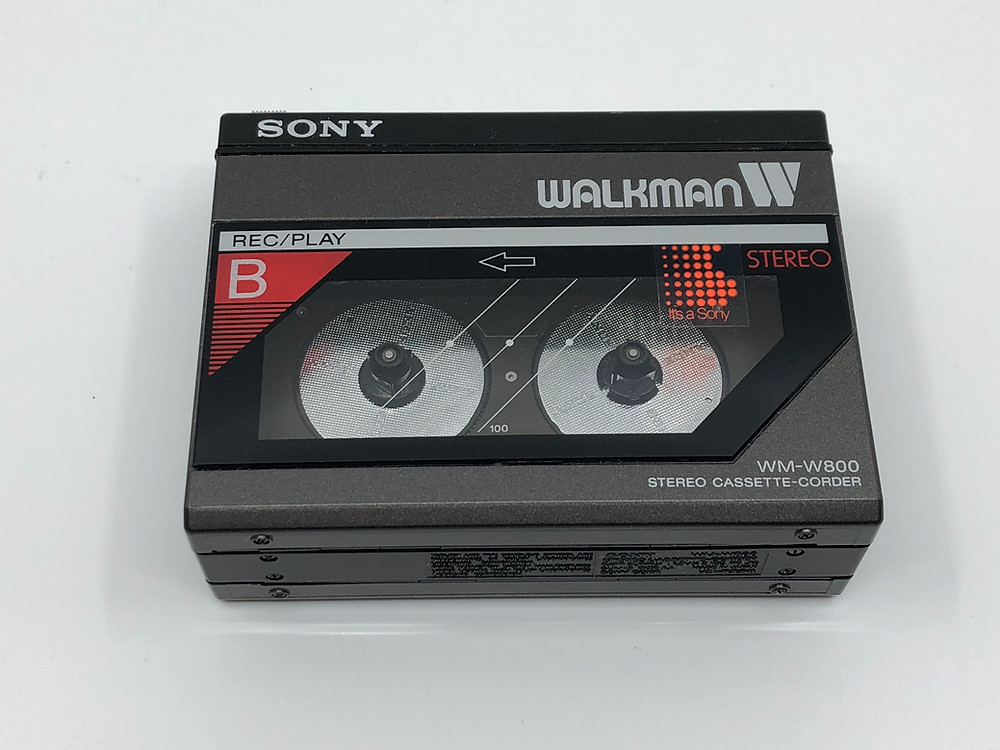 Sony Walkman WM-W800 Black Dual Cassette Player Recorder