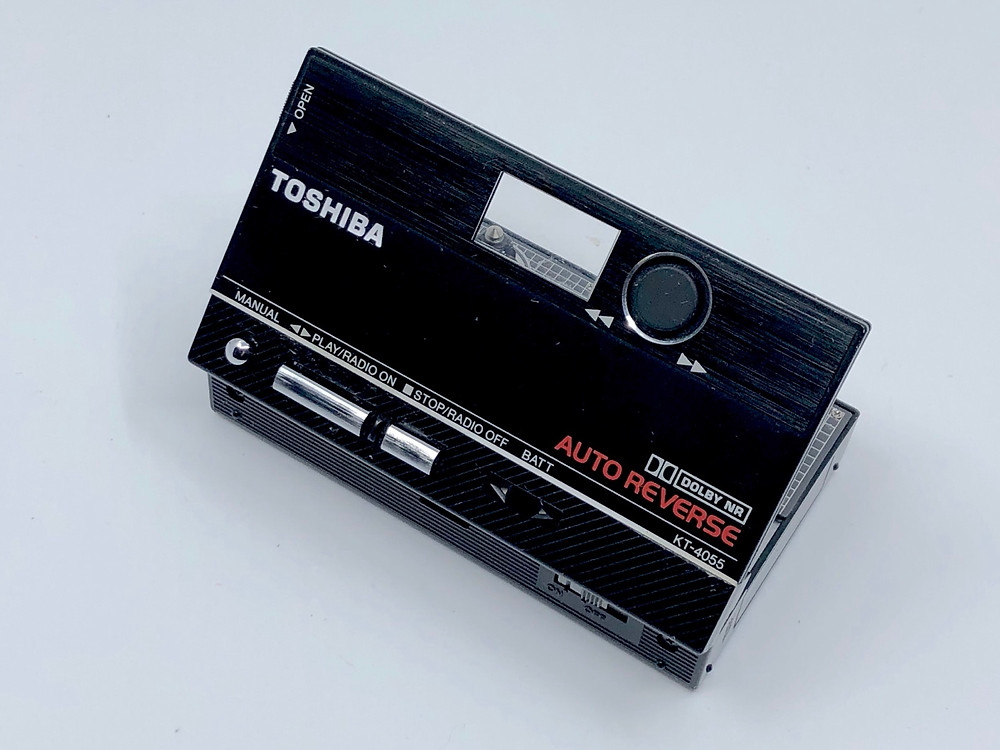 Toshiba KT-4055 Portable Cassette Player Black