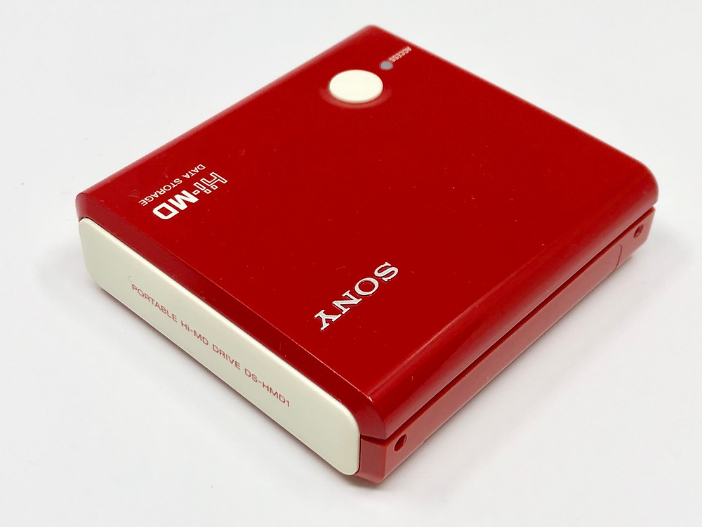 Sony DS-HMD1 Hi-MD USB Data Storage Red