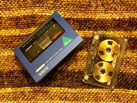 Aiwa HS-P5 Blue Portable Cassette Player