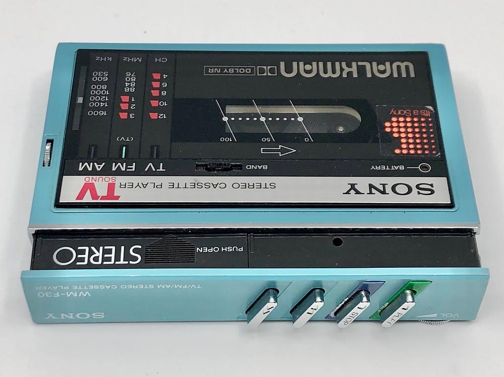 Sony Walkman WM-F30 Aqua Portable Cassette Player with AM FM TV Radio