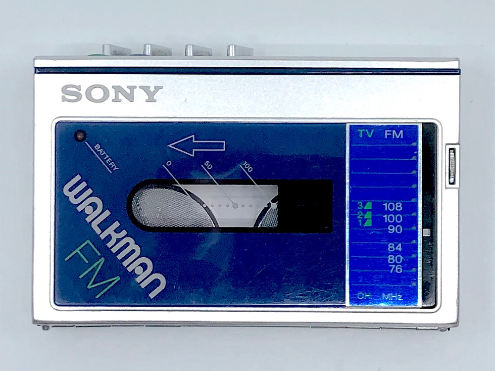 Sony Walkman WM-F20 Dark Blue Portable Cassette Player