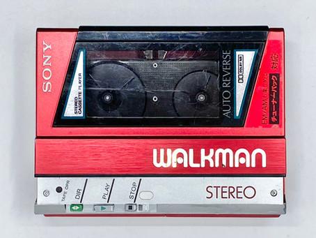 Sony Walkman WM-40 Red Portable Cassette Player
