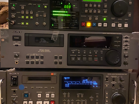 Professional DAT Recorders : Otari DTR90, Sony PCM-R500, Sony PCM-7040, Tascam DA-60MKII
