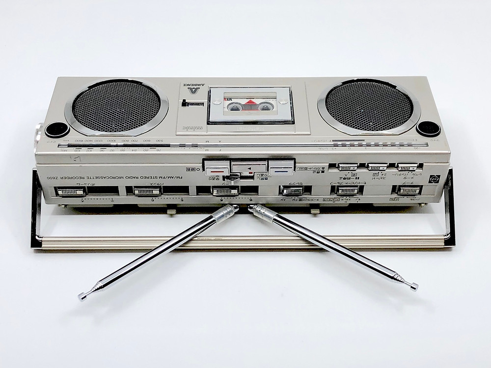 National RN-Z600 Microcassette Stereo Boombox
