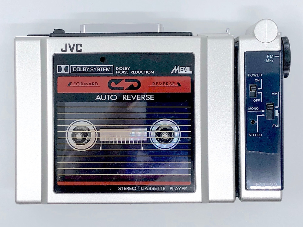 JVC CQ-F22H AQ-22 Portable Cassette Player with Tuner and Headphone Modules