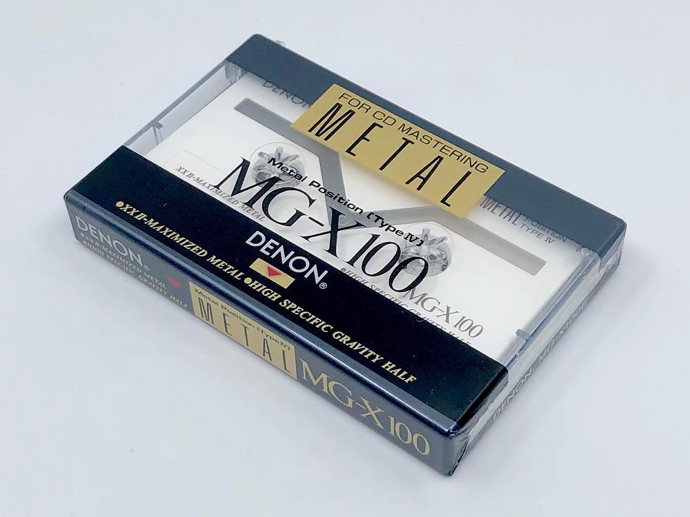 Denon MG-X100 Metal Cassette Tape for CD Mastering