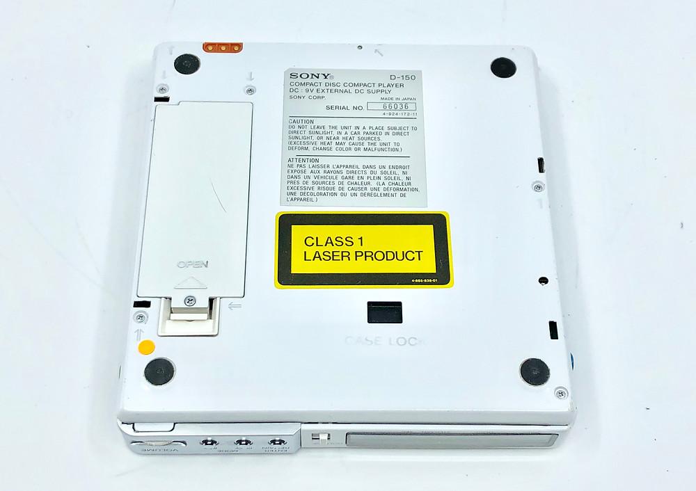Sony Discman D-150 White Portable CD Player
