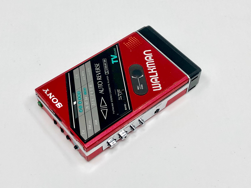 Sony Walkman WM-F102 Red Portable Cassette Player