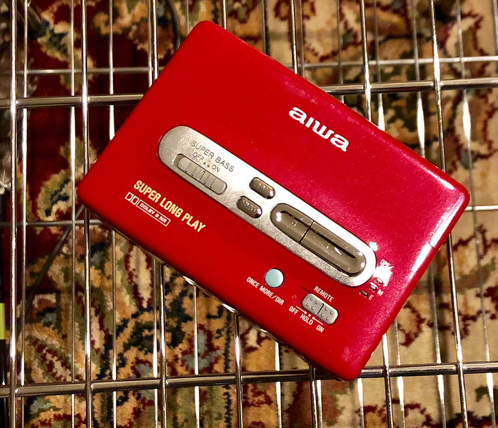 Aiwa HS-PX530 Portable Cassette Player Red