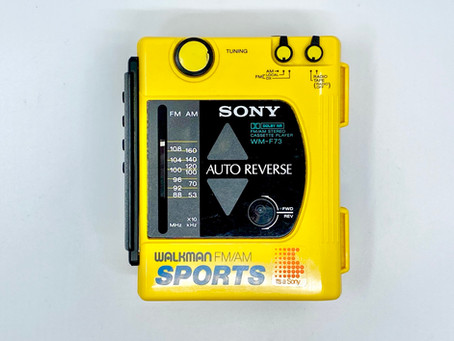 Sony Walkman WM-F73 Yellow Portable Cassette Player with Radio