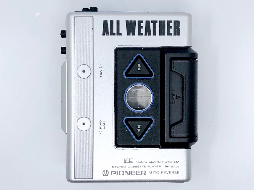 Pioneer PK-5AW Silver All Weather Portable Cassette Player
